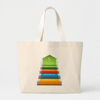 Financial Growth Stages Stair Step Chart Large Tote Bag