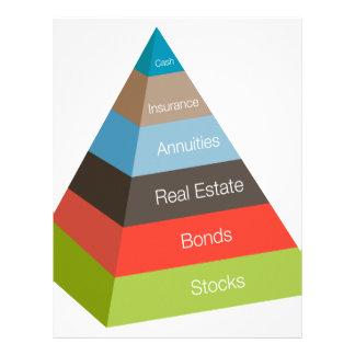 Financial Investment Pyramid Chart Letterhead