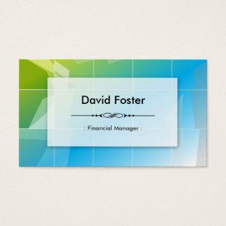 Financial Manager - Modern Elegant Simple Business Card