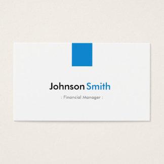 Financial Manager - Simple Aqua Blue Business Card