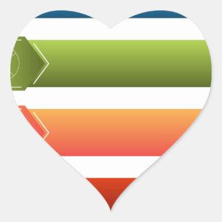 Financial Menu Set Heart Sticker
