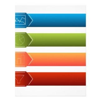 Financial Menu Set Letterhead