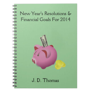 Financial New Year's Resolutions - Custom Notebook