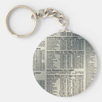 Financial news page keychains