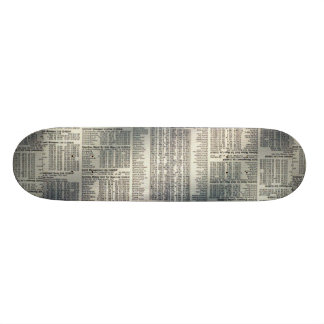 Financial news page skate boards
