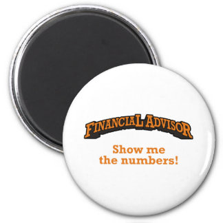 Financial / Numbers 2 Inch Round Magnet