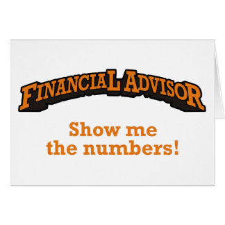 Financial / Numbers Card