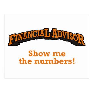 Financial / Numbers Postcard