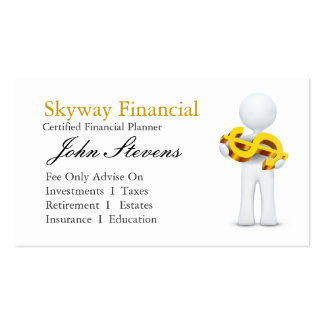 Financial Planner Business Card Templates