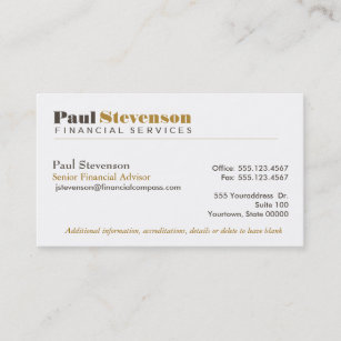 Financial business cards zazzle financial planner business card colourmoves