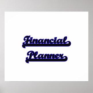 Financial Planner Classic Job Design Poster
