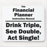 financial planner mouse pad