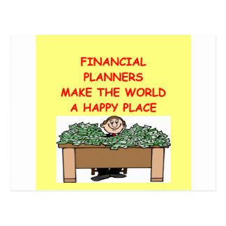 (financial planner postcard
