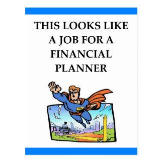 FINANCIAL PLANNER POSTCARD