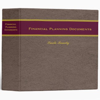 Financial Planning with Custom Name binder