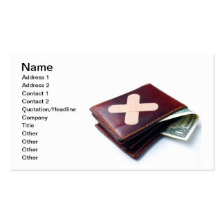Financial problems business card