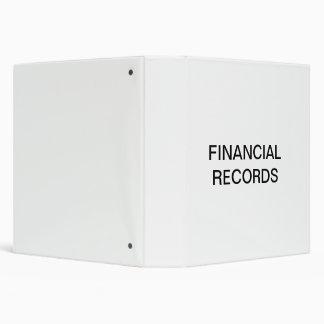 Financial Records Organizer Binder