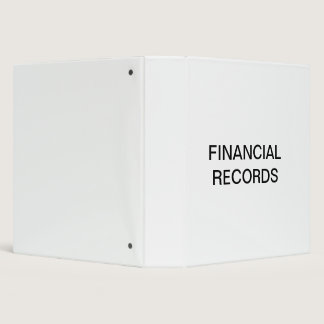 Financial Records Organizer Binder