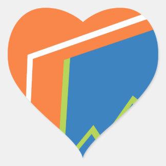 Financial Report Document Folder Icon Heart Sticker