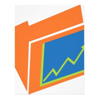 Financial Report Document Folder Icon Letterhead