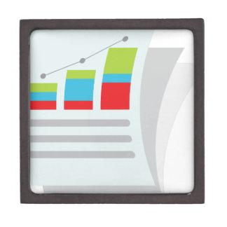 Financial Report Document Icon Jewelry Box