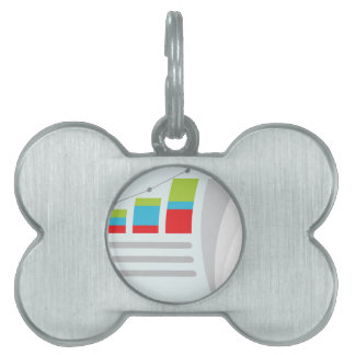 Financial Report Document Icon Pet Name Tag