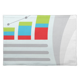 Financial Report Document Icon Cloth Placemat