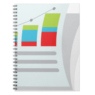 Financial Report Document Icon Spiral Notebook