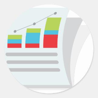 Financial Report Document Icon Classic Round Sticker