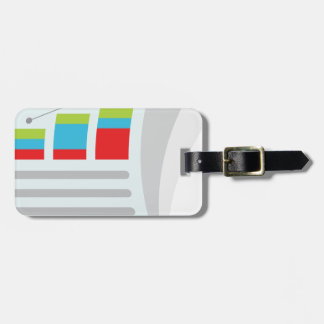 Financial Report Document Icon Tag For Luggage