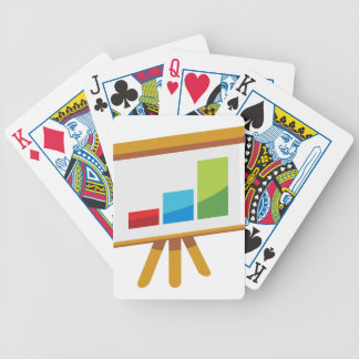 Financial Report Easel Presentation Icon Bicycle Playing Cards