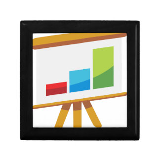 Financial Report Easel Presentation Icon Gift Box