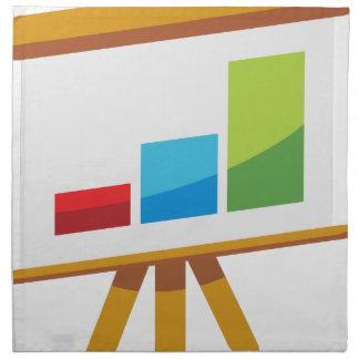 Financial Report Easel Presentation Icon Printed Napkin