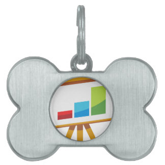 Financial Report Easel Presentation Icon Pet ID Tag