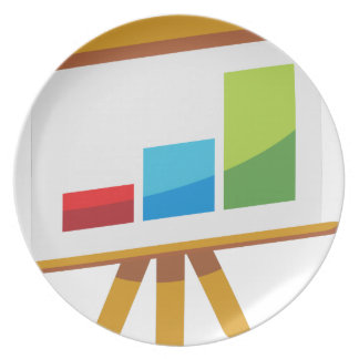 Financial Report Easel Presentation Icon Plate