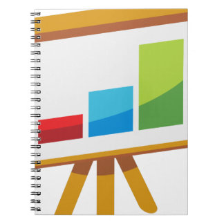 Financial Report Easel Presentation Icon Spiral Notebook