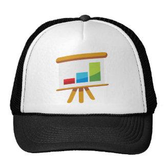 Financial Report Easel Presentation Icon Trucker Hat
