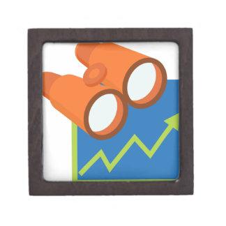 Financial Report Forecast Icon Keepsake Box