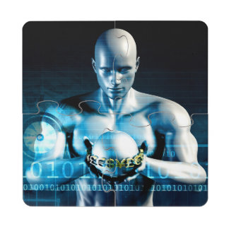 Financial Services and Technology Software Puzzle Coaster