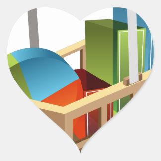 Financial Stock Market Business Chart Basket Heart Sticker