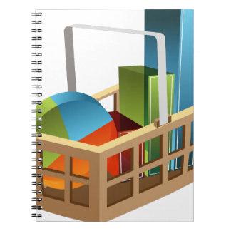 Financial Stock Market Business Chart Basket Notebook