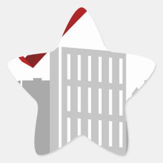 Financial Stock Market Business Cityscape Star Sticker