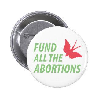 Financie todo el perno de los abortos pin redondo de 2 pulgadas