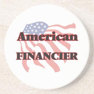 Financiero americano posavasos manualidades