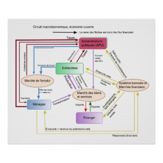 Financieros del flujo del DES del macréconomique d Póster