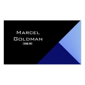 Finanzas azules y negras de la ciudad tarjetas de visita