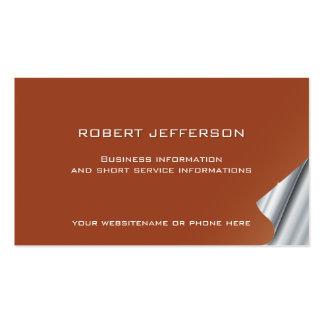 Finanzas de las propiedades inmobiliarias del tarjetas de visita