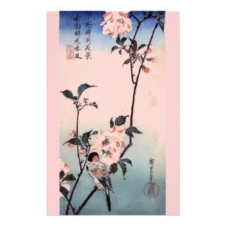 Finch Cherry Blossom Japanese Print Stationery