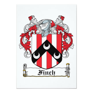 "Finch Family Crest 5"" X 7"" Invitation Card"