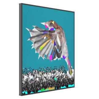 Finch Polygon Pop Art Canvas Print